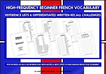 FRENCH VOCABULARY (1-5) - PRACTICE & REVISION - 495 WORDS & PHRASES