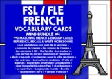 FRENCH VOCABULARY CARDS BUNDLE #1