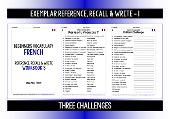 FRENCH VOCABULARY (3) PRACTICE & REVISION - 99 WORDS & PHRASES