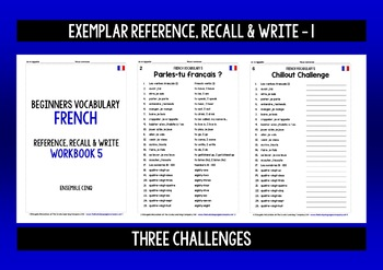 FRENCH VOCABULARY (5) PRACTICE & REVISION - 99 WORDS & PHRASES