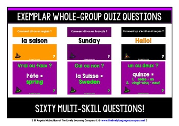 FRENCH VOCABULARY HALLOWEEN GAMES & QUIZ 99 WORDS & PHRASES (1)