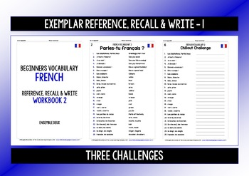 FRENCH VOCABULARY (2) PRACTICE & REVISION - 99 WORDS & PHRASES