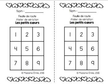 FRENCH Valentine Math Centers/ Ateliers numératie (coeurs de St-Valentin)