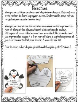 FRENCH Valentine Penguin Flipbbok/ Livret interactif de la Saint-Valentin