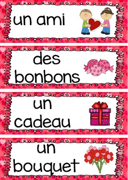 french valentine 39 s day activities vocabulary and cards la saint valentin. Black Bedroom Furniture Sets. Home Design Ideas