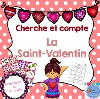 FRENCH Valentine's day Count the room/ Cherche et compte (