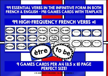 FRENCH VERBS (1) - 99 VERBS - GAMES & ACTIVITIES