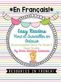 FRENCH Vivre et Travailler en Ontario Easy Readers & Activities for IEPs