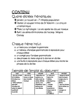 "FRENCH Volume 2  Spelling Test ""Dictées"" and Grammar Activities"