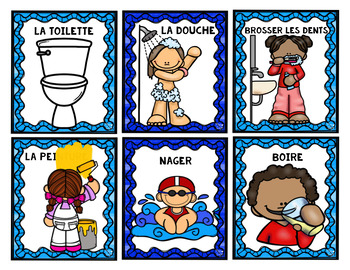 FRENCH - WAYS WE USE WATER - Sorting Cards