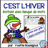 FRENCH WINTER WRITING PROMPTS with word bank   écriture hiver