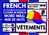 FRENCH CLOTHES WORD WALL