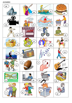 FRENCH - WORKSHEET - Hobbies and Leisure