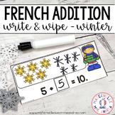 FRENCH Winter Math Centre - Centres de mathématiques (hiver) - Addition