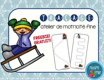 FRENCH Winter Tracing mats FREE/ Fiches de traçage hiver {Gratuit}