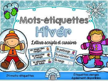 FRENCH Winter Word Wall Cards /Hiver - Mots-étiquettes