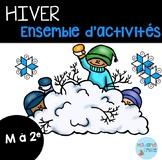 FRENCH {Winter}Math and literacy Pack/ Hiver {littératie et numératie}