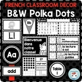 French classroom decor set POLKA DOTS   français