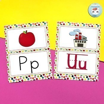 French classroom decor set RAINBOW DOTS bundle