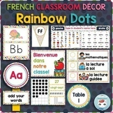 French classroom decor set RAINBOW DOTS bundle
