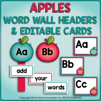 FRENCH Word Wall EDITABLE