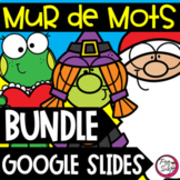 FRENCH Word Wall Google Slides™ BUNDLE