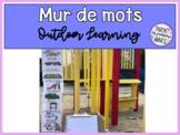 FRENCH Word Wall Outdoor Learning | Mur de mots Apprentissage en plein air