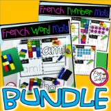 FRENCH Word and Number Mats BUNDLE