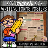 FRENCH Writing Forms Posters (Elements of narratives,letters,fiction,poetry etc)