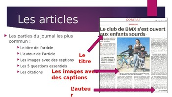 FRENCH- Writing Newspaper Articles  **BUNDLE**