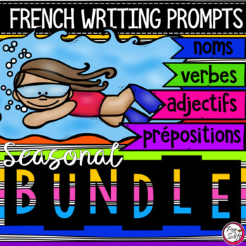 FRENCH Writing Prompts - BUNDLE