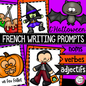 FRENCH Writing Prompts - L'HALLOWEEN