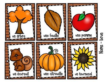 FRENCH Writing Prompts - L'automne