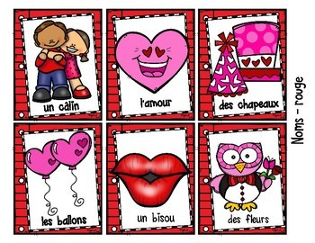FRENCH Writing Prompts ♥ LA SAINT-VALENTIN