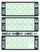 FRENCH and ENGLISH Build 10 Flowers Large Math Game Cards