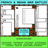 FRENCH and INDIAN WAR BATTLES Foldables Activities BUNDLE