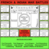 FRENCH and INDIAN WAR BATTLES Poster Activities BUNDLE - 11 Activities in all!