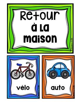 Arrivaldismissal Posters/ Arrivée et départ (Affichage de la routine) #29juillet