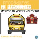 FRENCH arrival dismissal Posters/ Arrivée et départ (Affic