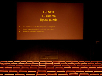 FRENCH au cinéma jigsaw puzzle