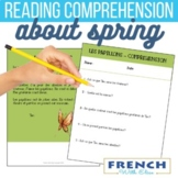 French reading comprehension activities for beginners -  SPRING STORIES