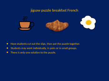 FRENCH breakfast jigsaw puzzle