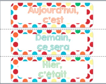 FRENCH colourful polka dots decor bundle/ Affiches à éditer pois multicolores