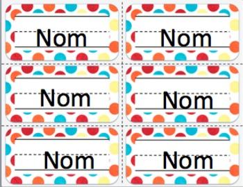 FRENCH colourful polka dots decor bundle/ Affiches à éditer pois multicolores