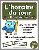 FRENCH schedule cards - Horaire du jour / Menu du jour  (1
