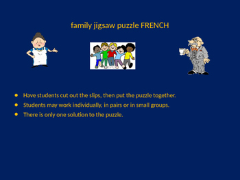 FRENCH family jigsaw puzzle