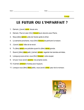FRENCH grammar FUTUR vs IMPARFAIT