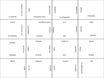 FRENCH health and wellness jigsaw puzzle