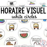 FRENCH horaire visuel - cercles blancs - Partially EDITABLE!