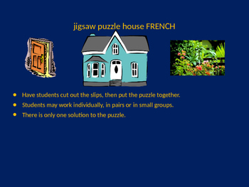 FRENCH house jigsaw puzzle